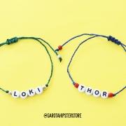 Pulseiras Irmãos/Amizade Thor e Loki