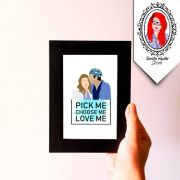 Quadro Decorativo Grey's Pick Me. Choose Me. Love Me