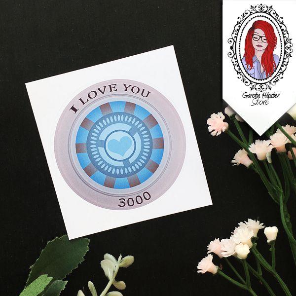 Adesivo Vingador - I Love You 3000