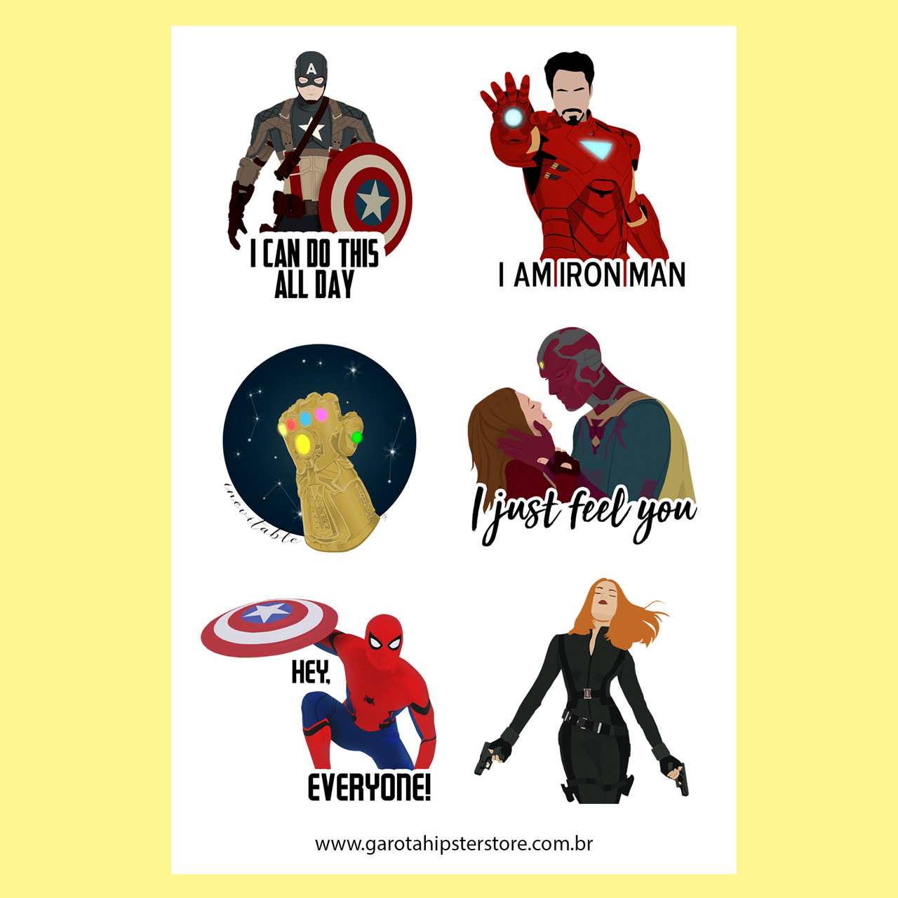 Adesivos Vingador / Heróis