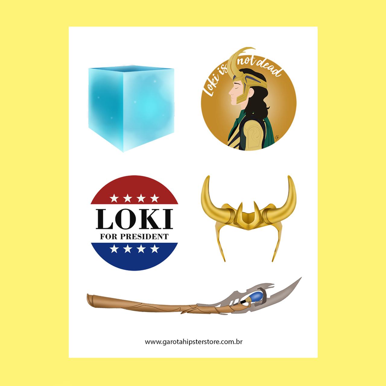 Adesivos Vingador / Loki