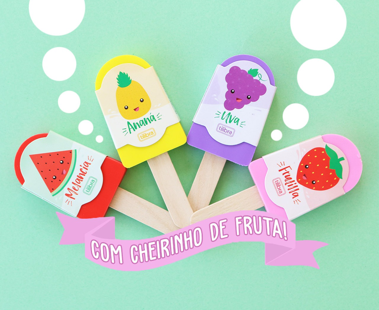 Borracha Picóle com Cheiro (Escolha a cor)