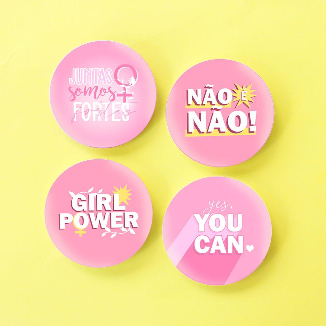 Bottons Girl Power (Escolha o Modelo)