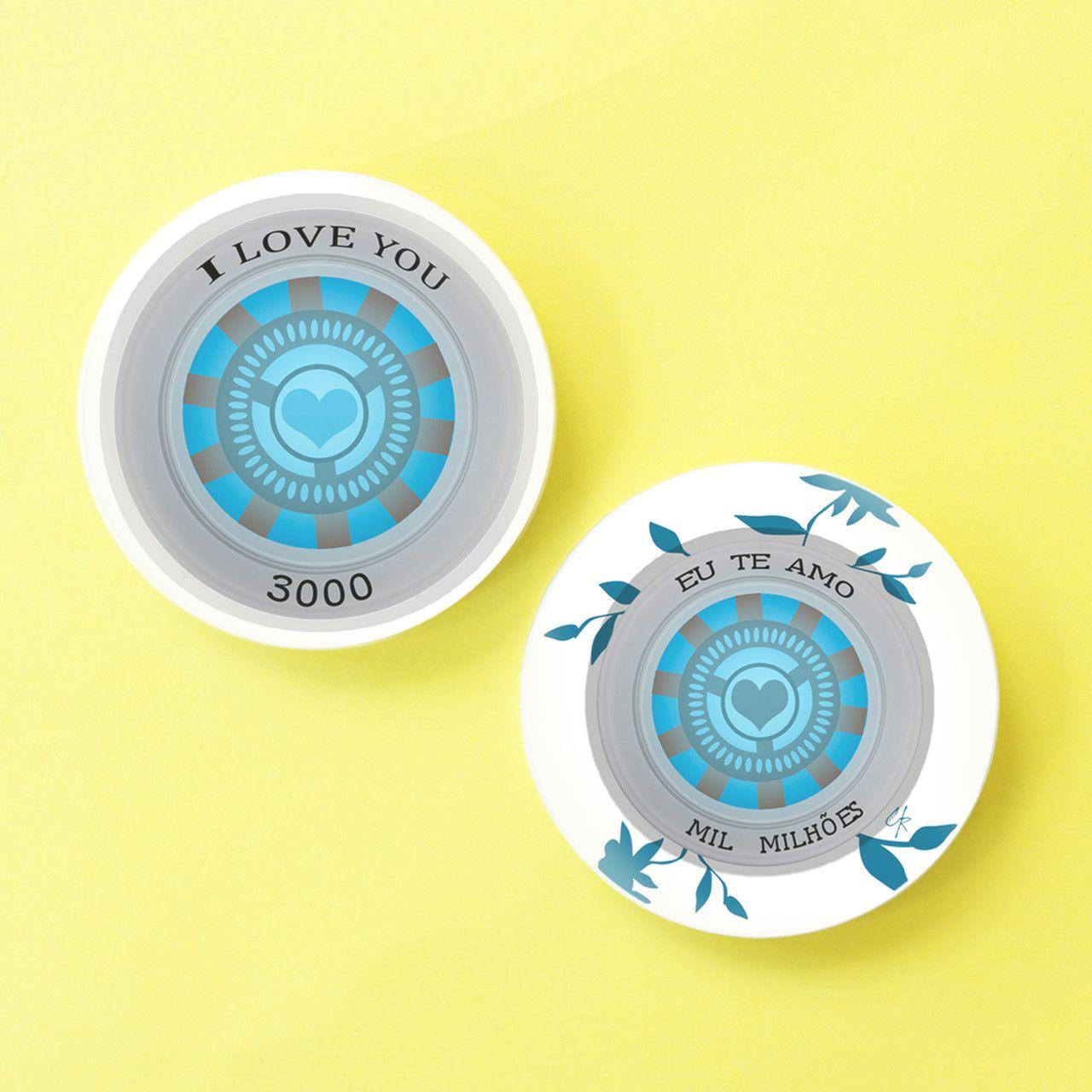 Bottons Vingadores - I Love You (Escolha o Modelo)