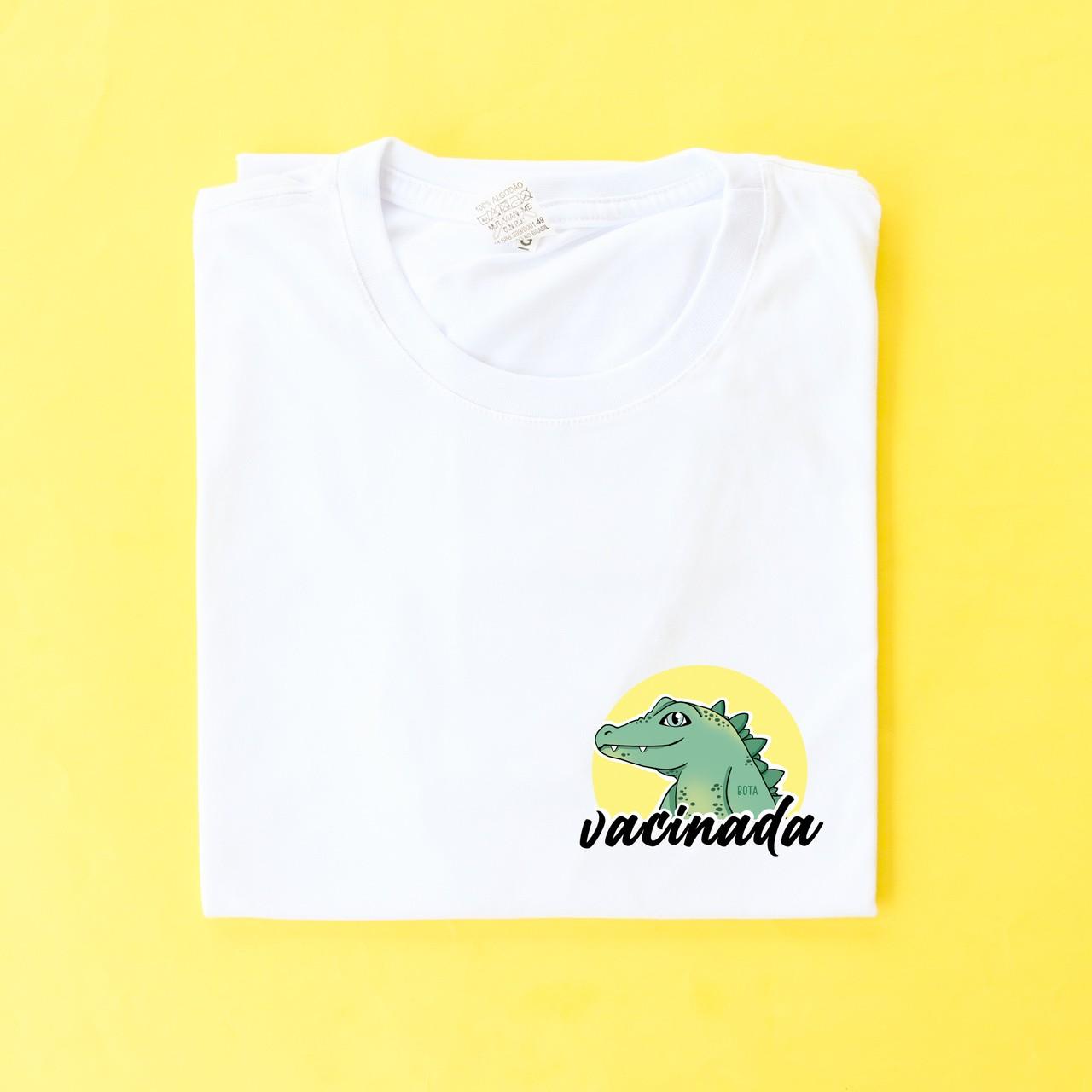 Camiseta Vacinade/Jacaré