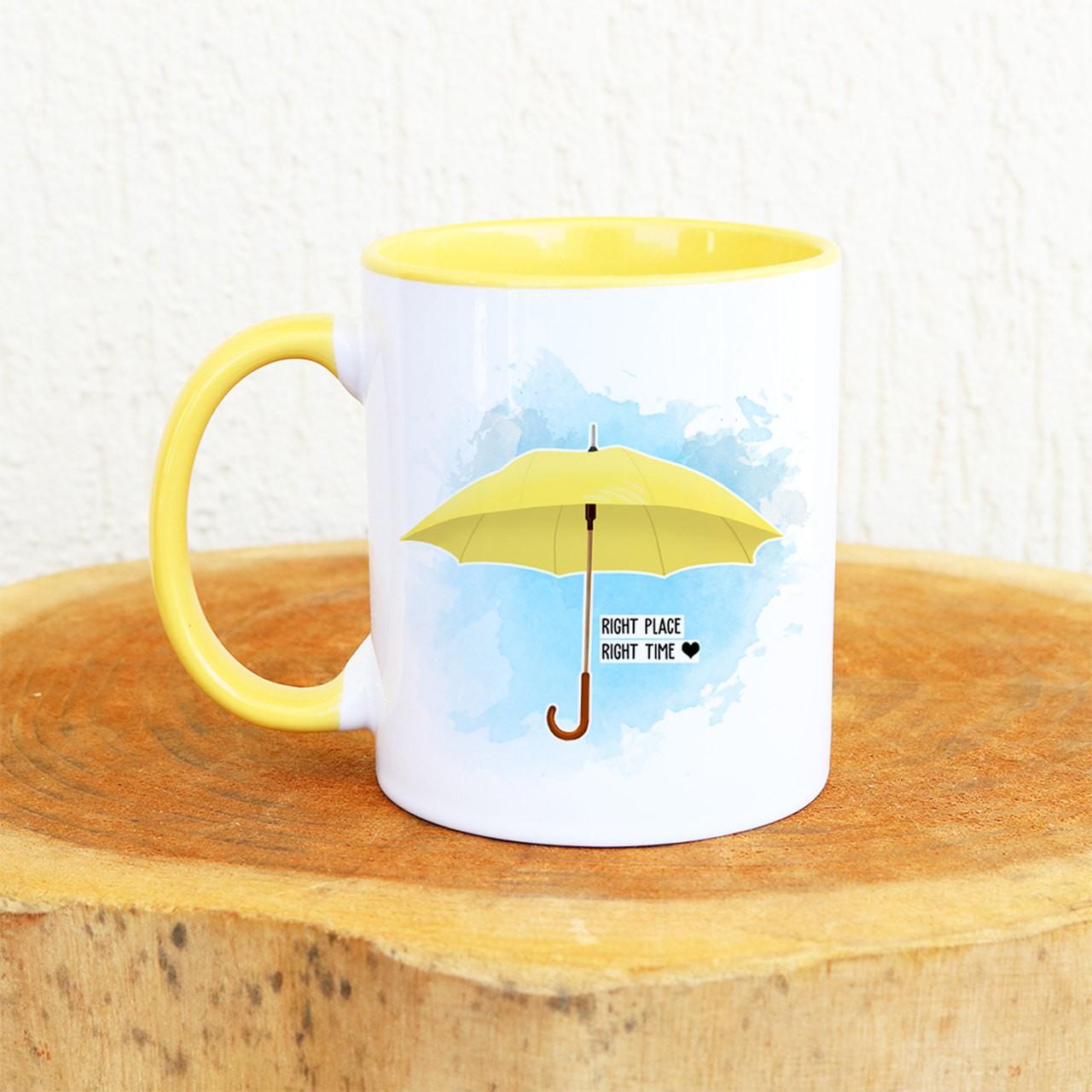 Caneca How I Guarda-chuva Amarelo
