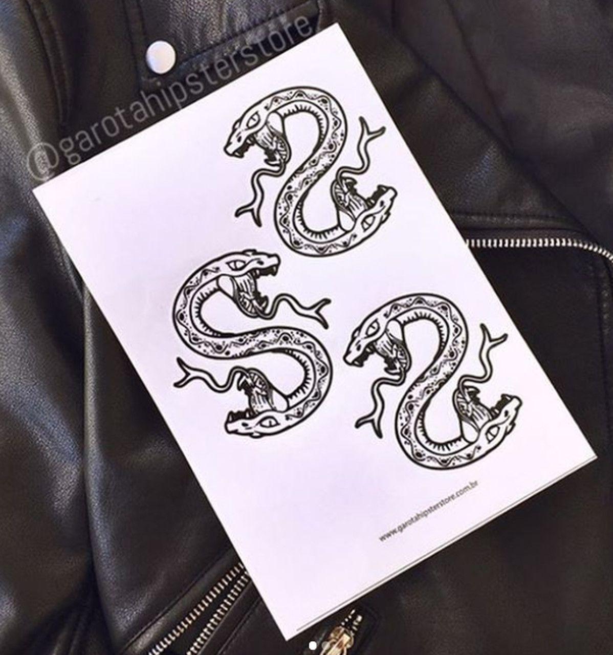 Tatuagens River Temporárias Serpentes