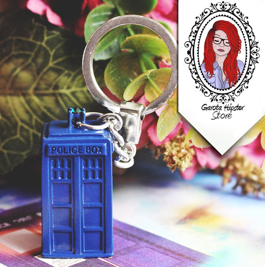 Chaveiro Doctor Tardis Azul