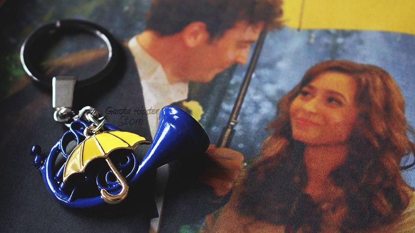 Chaveiro How I - Trompa Azul & Guarda-Chuva Amarelo