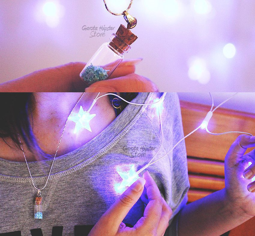 Colar Vidrinho Com Estrelas