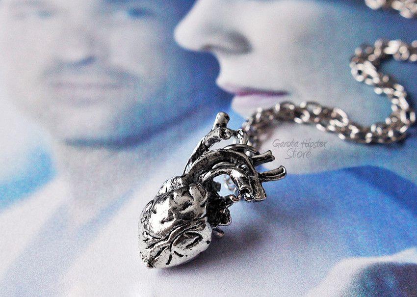 Colar Greys Coração Realista