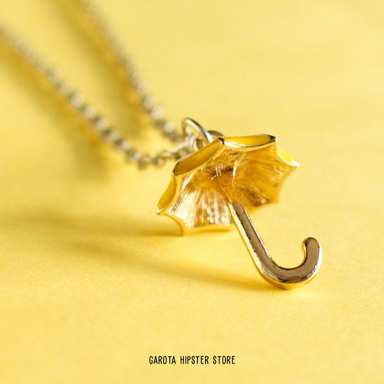 Colar How I - Guarda-chuva Amarelo