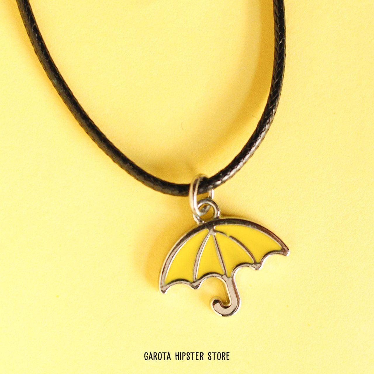 Colar How I - Guarda-chuva Amarelo Mini