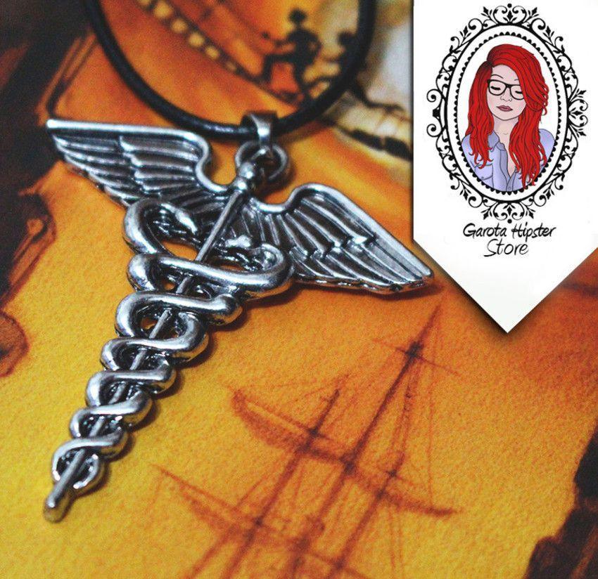 Colar Percy Caduceu de Hermes