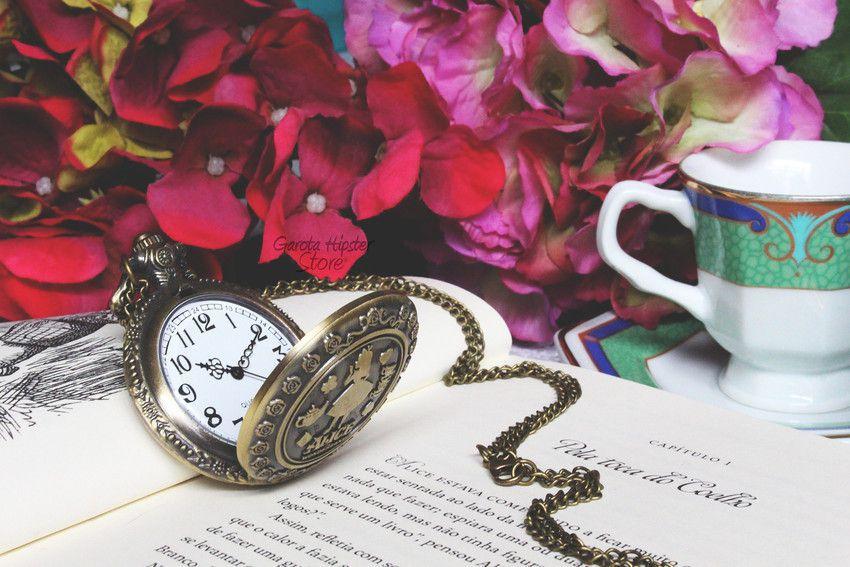 Colar Relógio de Bolso Alice