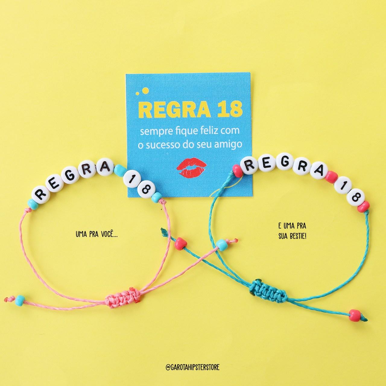 Pulseiras Da Amizade Regra 18 / Beijo /  Conjunto