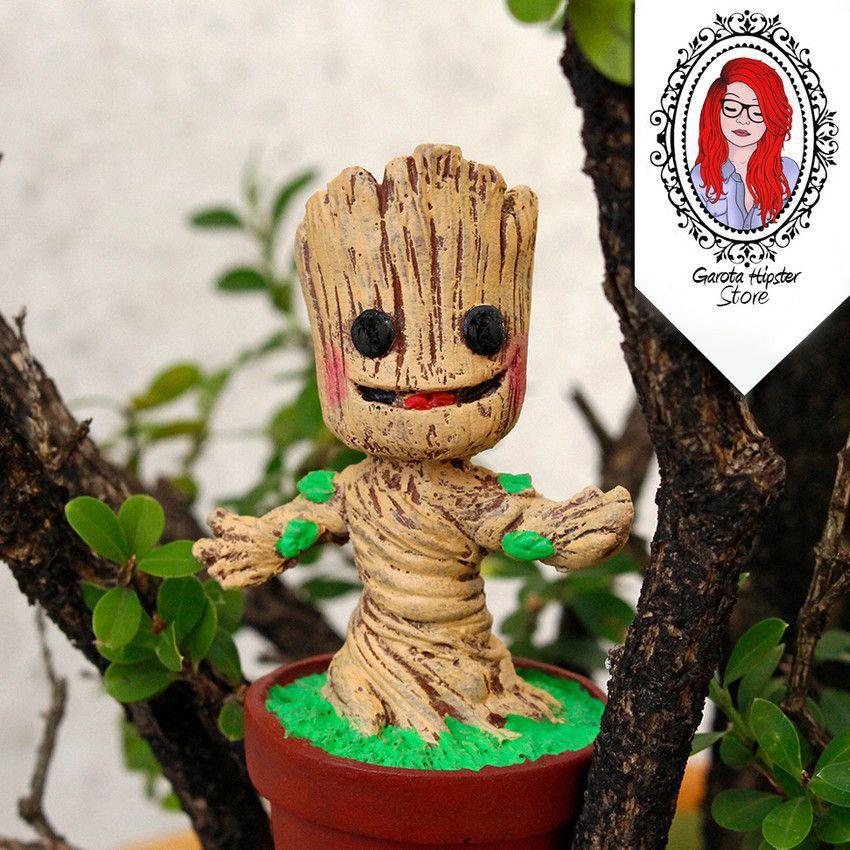 Estatueta Baby Groot Guardiões