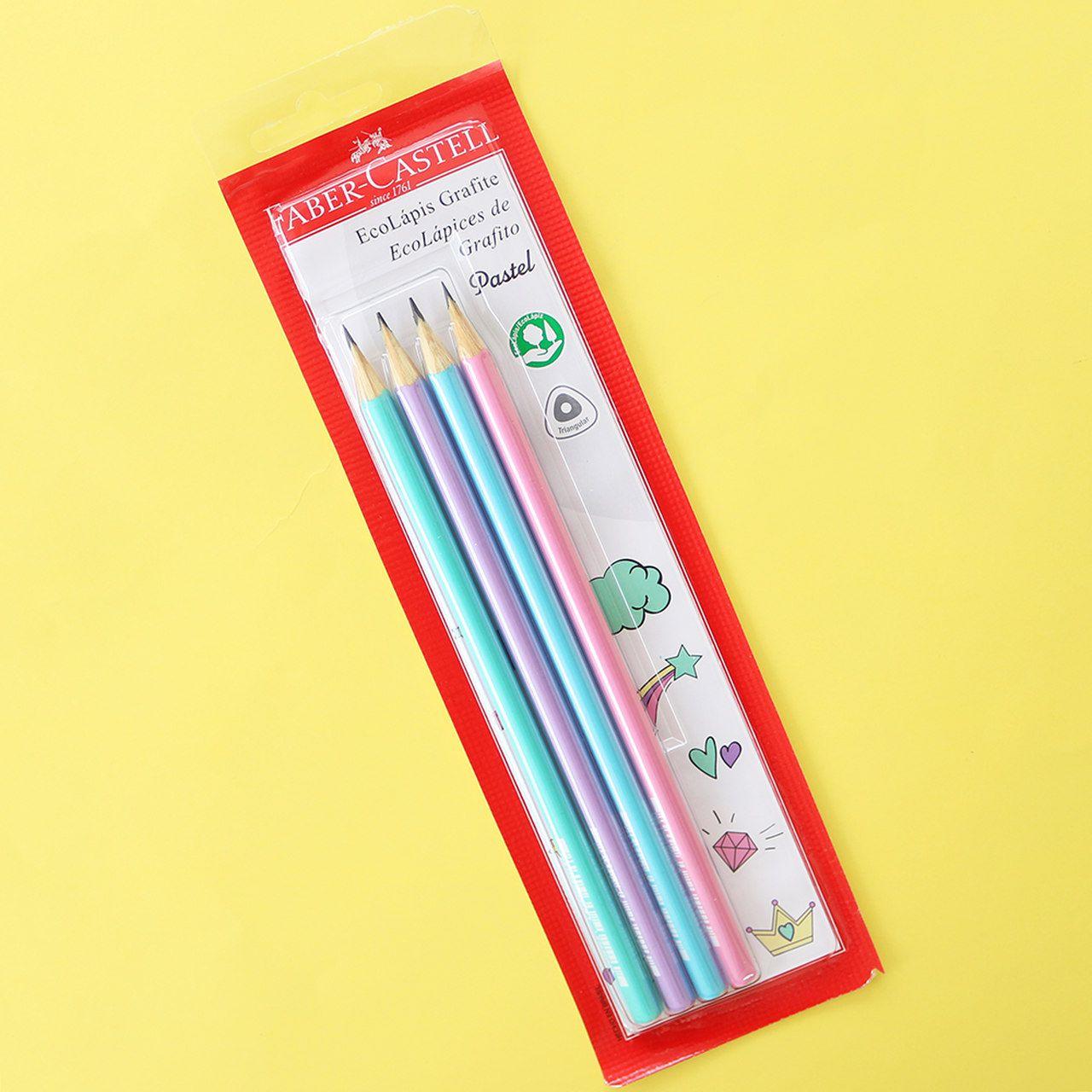 Kit 4 EcoLápis Pastel