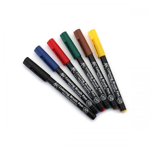Kit Canetas Brush Koi - 6 Cores