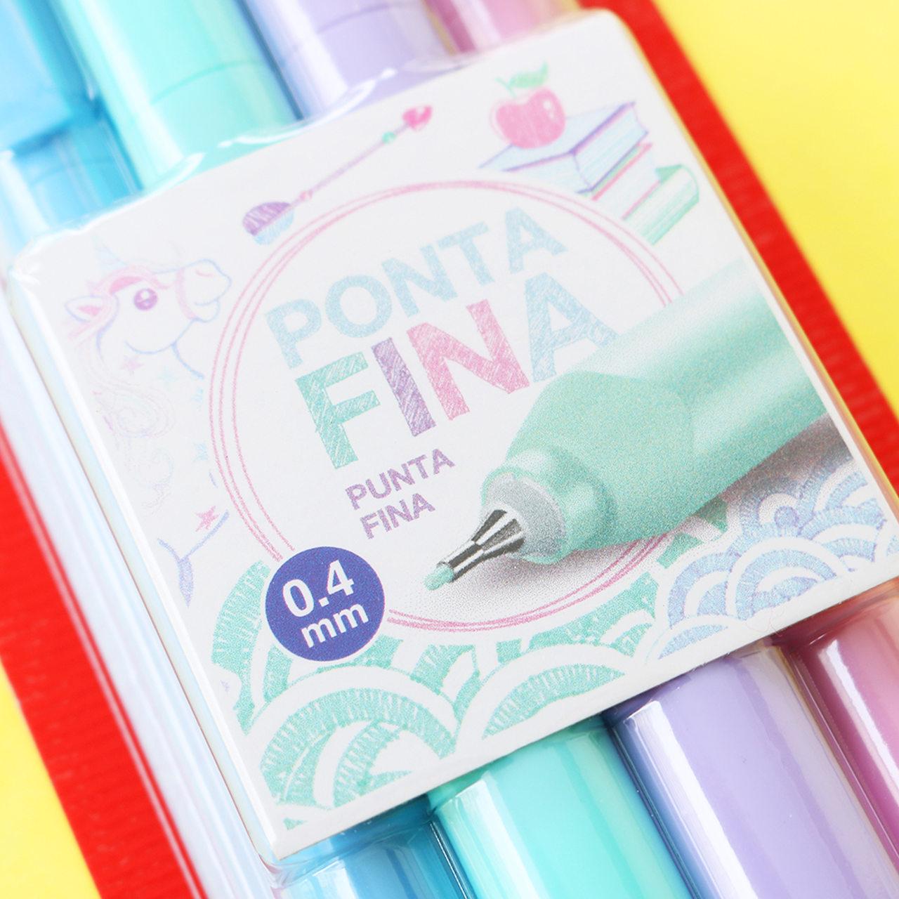 Kit Canetas Fine Pen Tons Pasteis