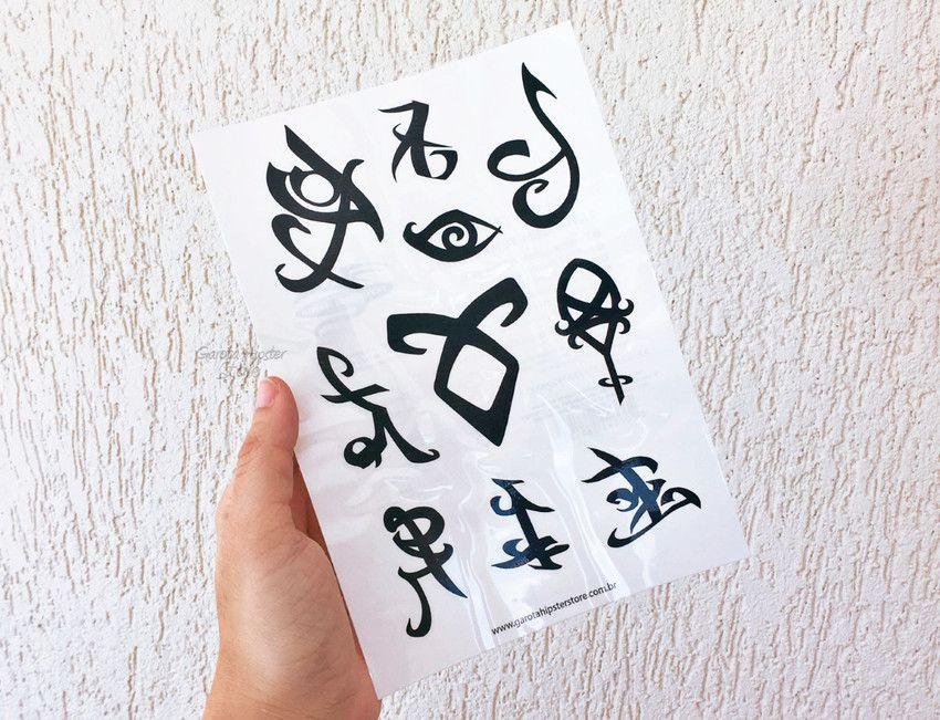Kit Hunter Anel + Colar + Cartela Tatuagens Temporárias
