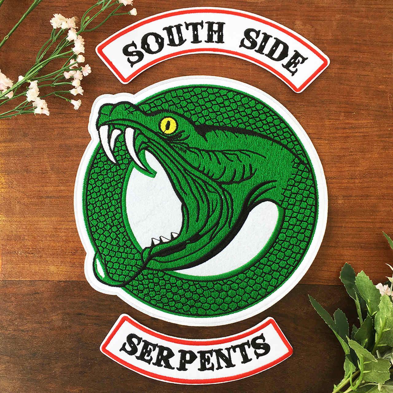 Patch River Bordado Serpentes Para Jaqueta Mod. B