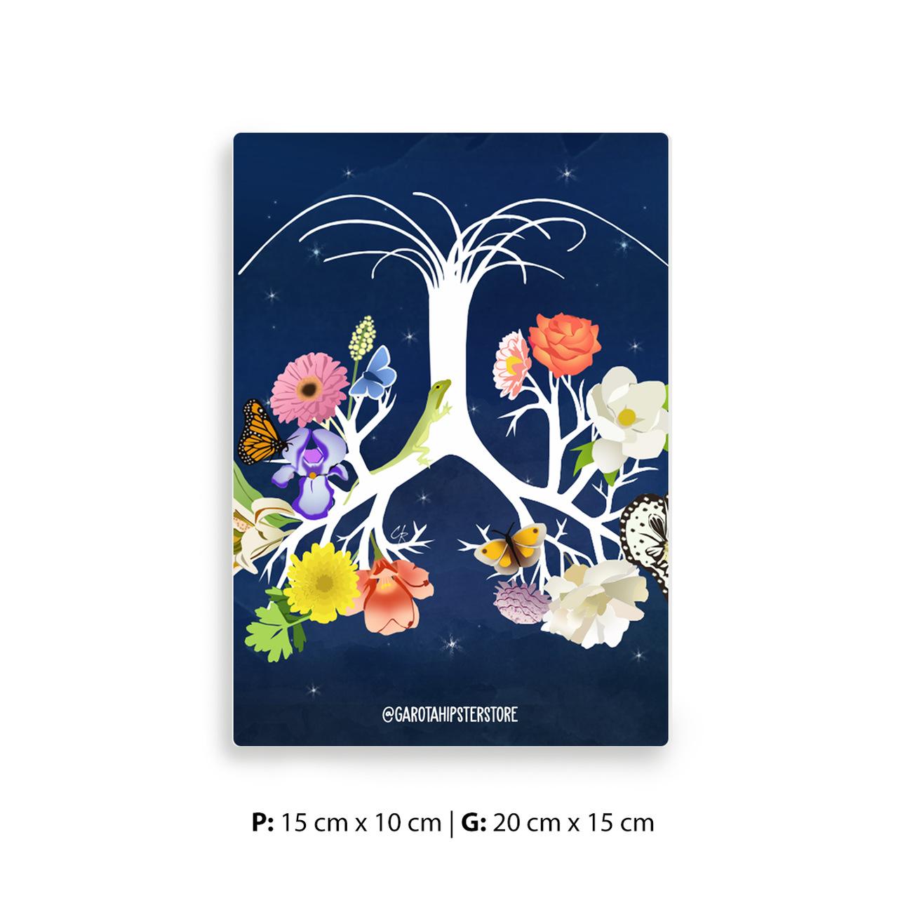 Placa Decorativa 5 Passos
