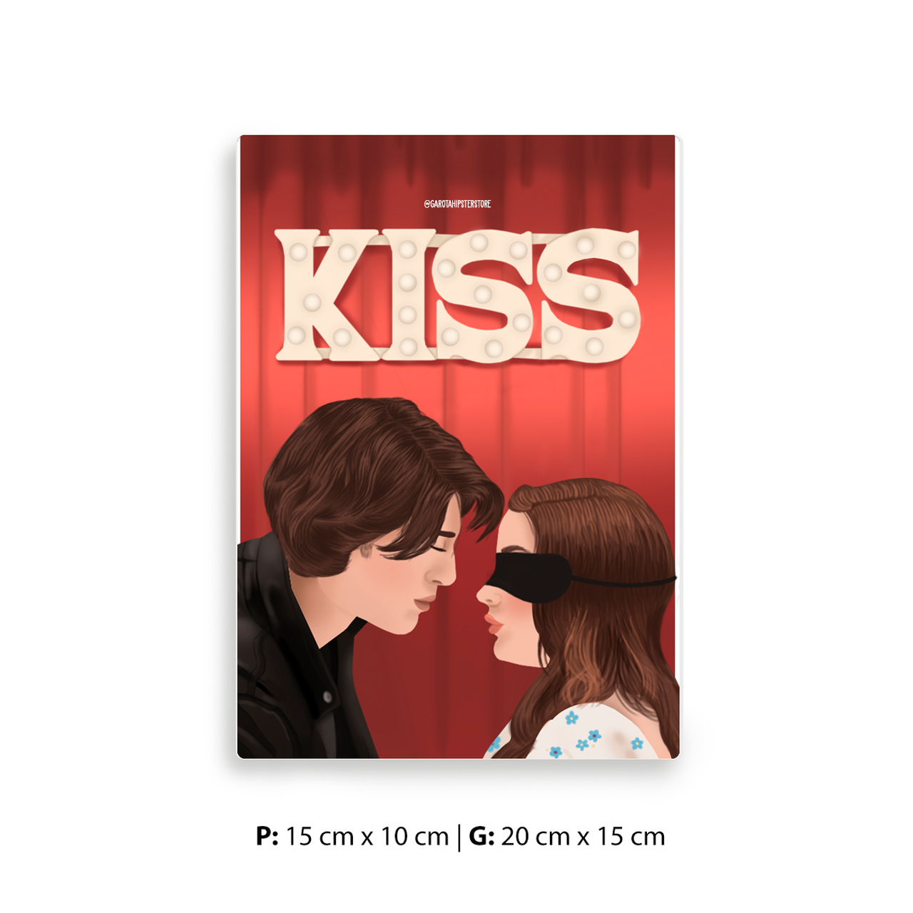 Placa Decorativa Beijo