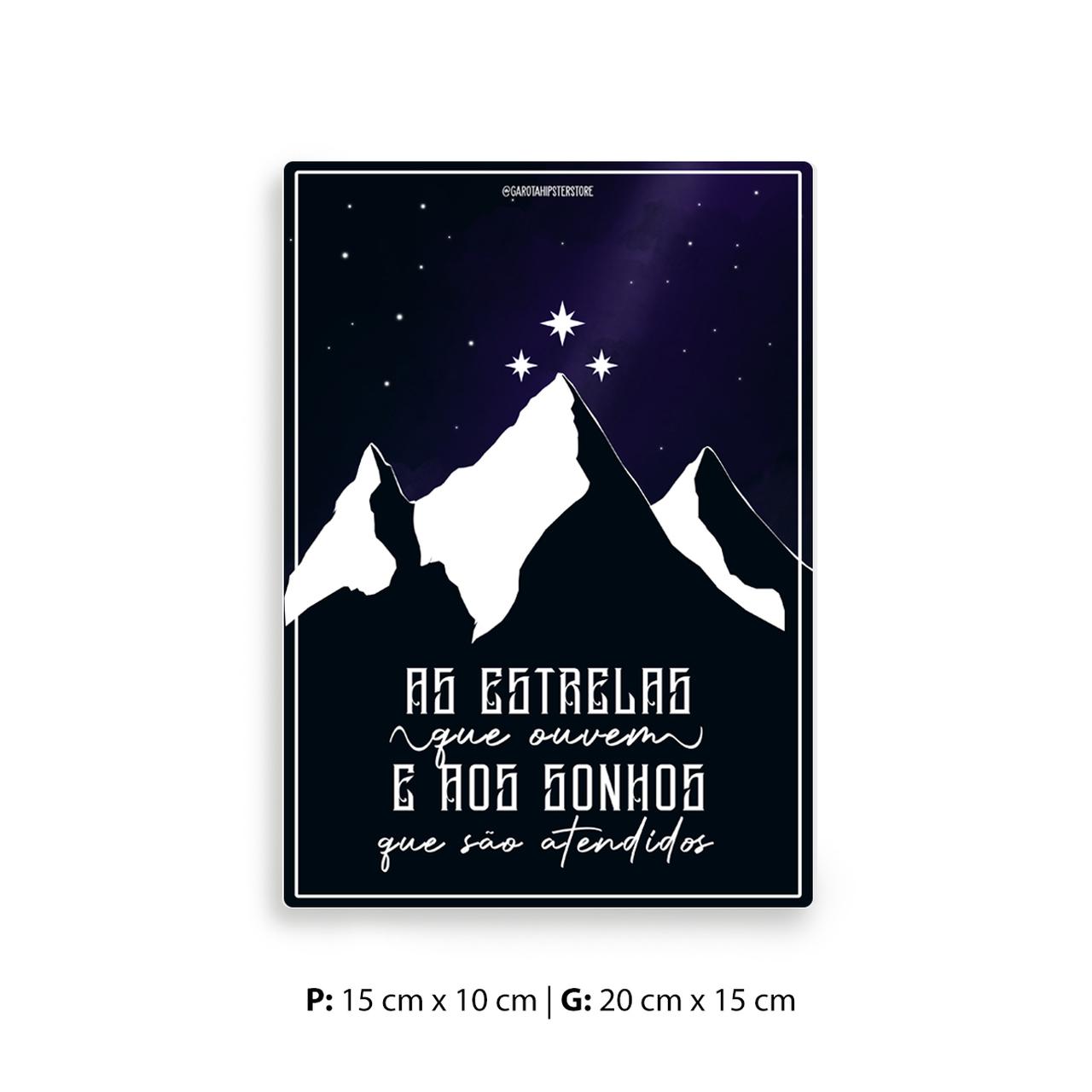 Placa Decorativa Acotar/ Corte Noturna/ Corte dos Sonhos