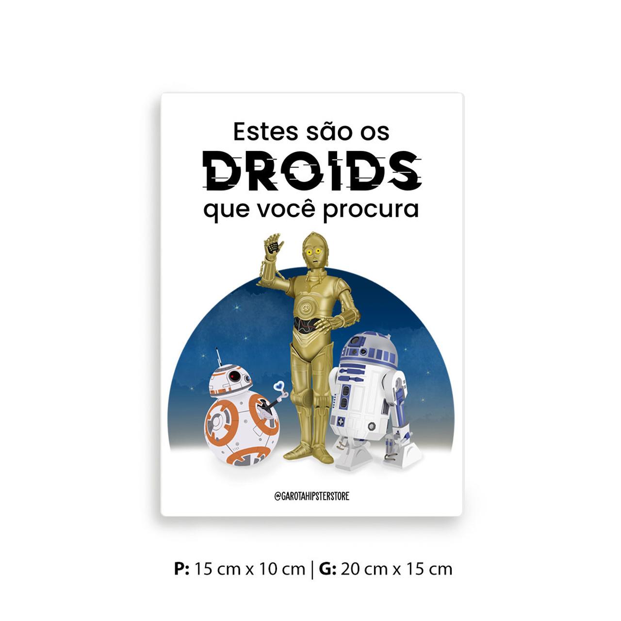 Placa Decorativa Star / Estes São Os Droids Que Você Procura