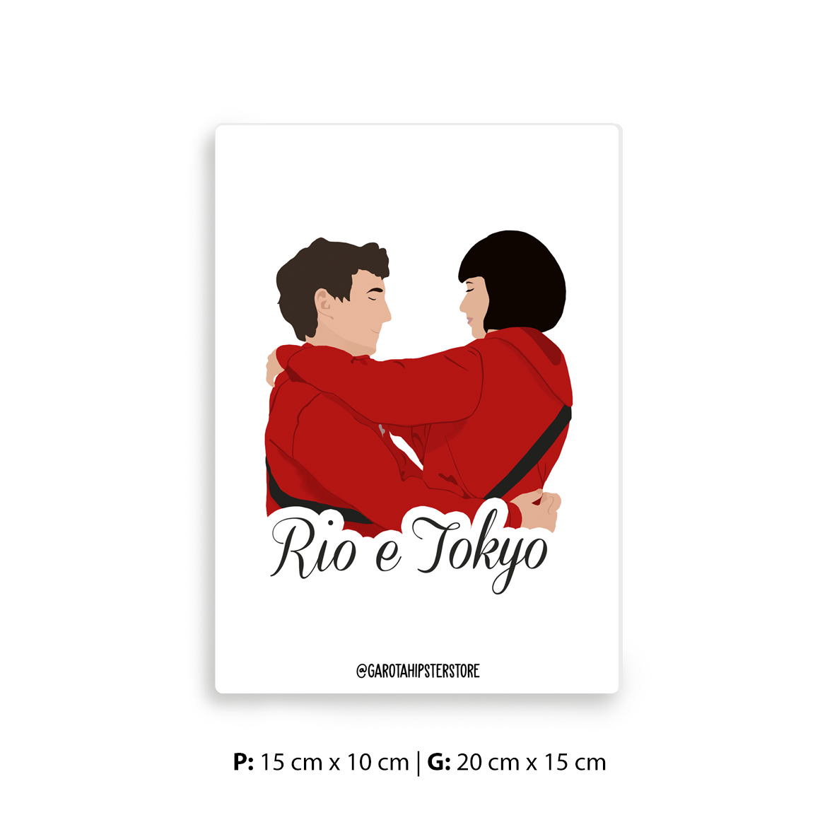 Placa Decorativa La Casa Tokyo & Rio