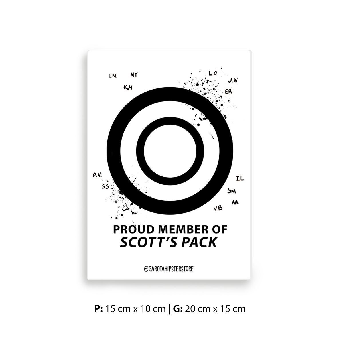Placa Decorativa Wolf - Scott's Pack