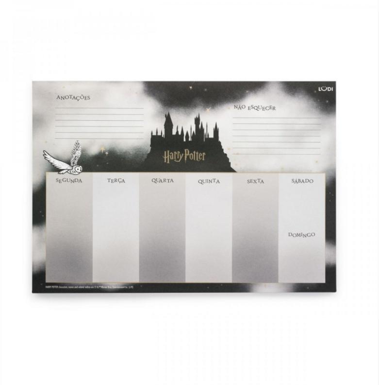 Bloco Planner Semanal Harry Potter - Com Adesivos