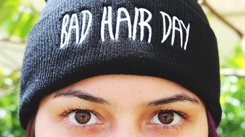 Touca Bad Hair Day Preta