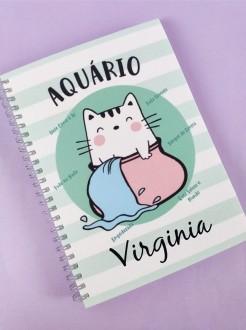 Caderno  Aquário Personalizada com Nome
