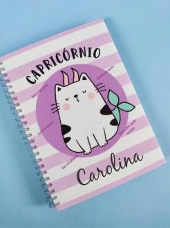 Caderno Capricórnio Personalizada com Nome