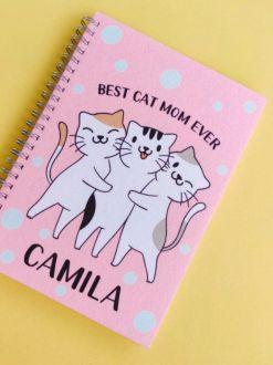 Agenda Cat Mom Personalizada com Nome