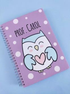 Caderno Coruja Personalizada com Seu Nome