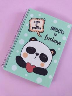 Agenda de Panda Personalizada com Nome