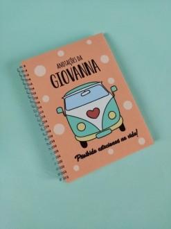 Caderno Kombi Personalizada com Nome