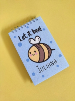Bloquinho Let It Bee Personalizado com Nome