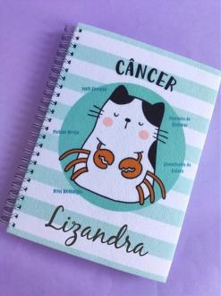 Caderno  Câncer Personalizada com Nome