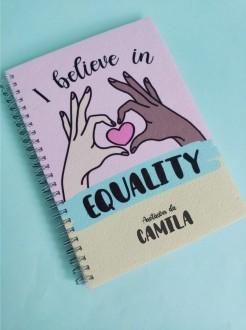 Caderno Equality Personalizado com Nome