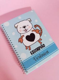 Caderno  Escorpião Cachorro Personalizado com Nome