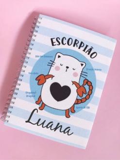 Caderno  Escorpião Personalizada com Nome