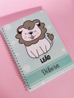 Caderno Leão Cachorro Personalizada com Nome