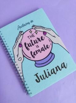 Caderno The Future is Female Personalizado com Nome