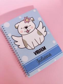 Caderno Virgem Cachorro  Personalizado com Nome