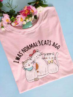 Camiseta 3 Cats Ago Rosa