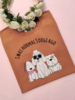 Camiseta 3 Dogs Ago Caramelo